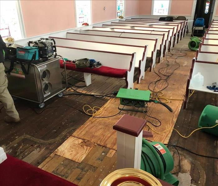 Water Damage Water Pipe Break at Local Church